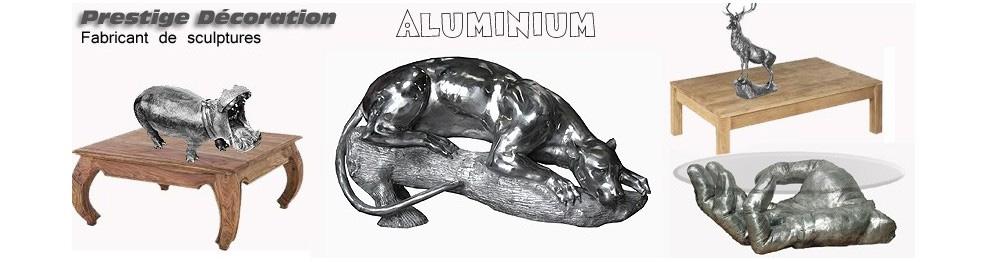 sculpture animaux en aluminium