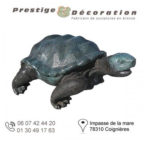 sculpture bronze tortue